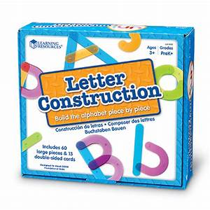 Letter construction activity set learning resourcesr for Learning resources letter construction