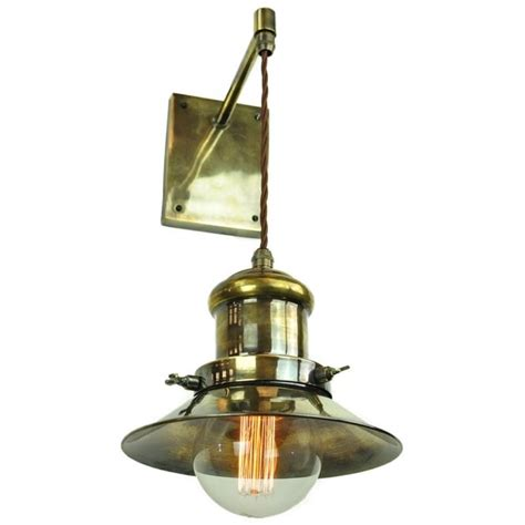 vintage style industrial wall light w suspended shade