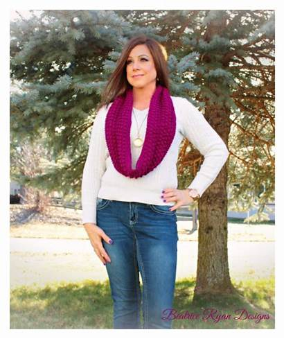 Scarf Crochet Infinity Berry Beatrice Blitz Ryan