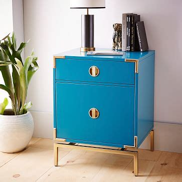 Nightstand West Elm by Malone Caign Nightstand Blue Teal West Elm