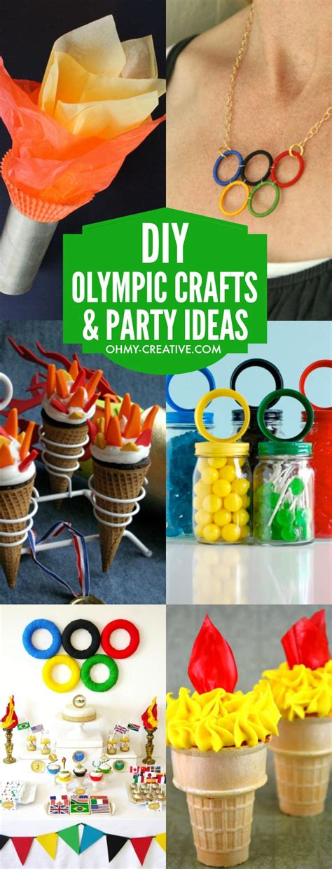 diy olympic crafts  party ideas   creative