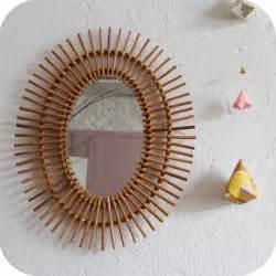 Petit Miroir Rotin : miroir rotin vintage mobilier vintage ann es 50 ann es 60 nantes atelier du petit parc ~ Melissatoandfro.com Idées de Décoration