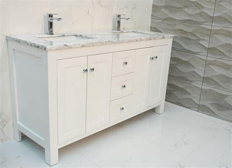 bliss shaker  double bowl vanity white bathroom