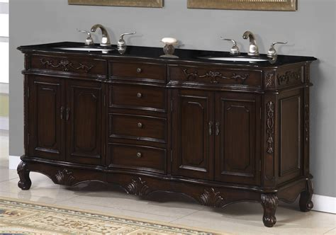 Rustic Bathroom Vanities With Tops Black Granite Double