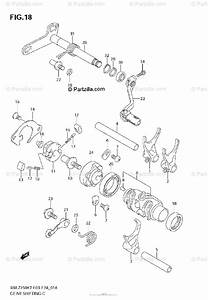 Suzuki Motorcycle 2007 Oem Parts Diagram For Gear Shifting