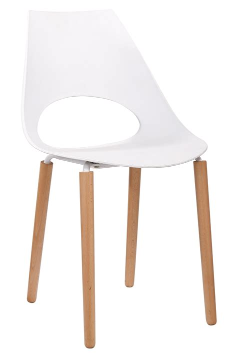 chaise design bois naturel chaise blanc bois