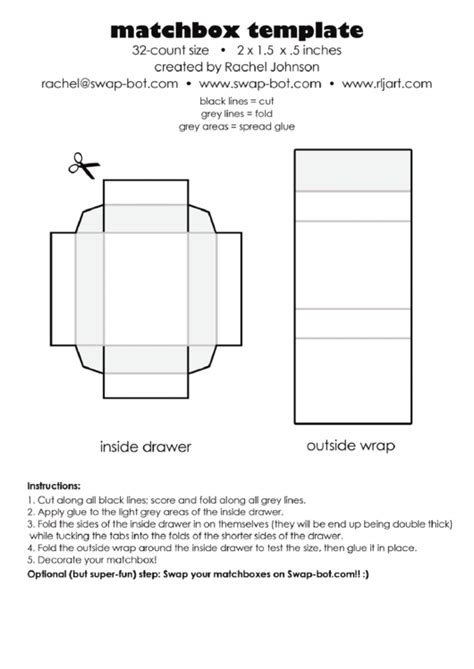 business card box template pdf matchbox template printable pdf