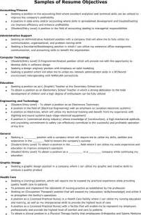 exle objectives in resume sle resume for excel pdf and word