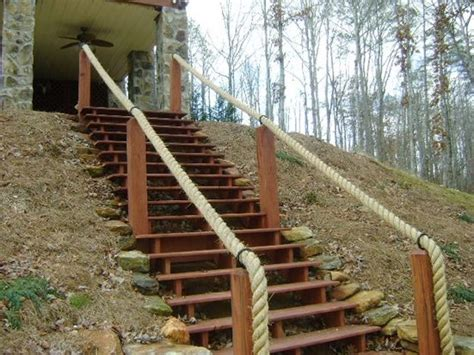 Outdoor Banister Railing by Oooh The Back Stairway Could Use This Before Winter
