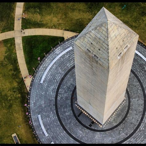 the washington monument made of marble granite and