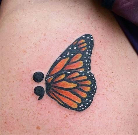 Lotus Tattoo With Semicolon