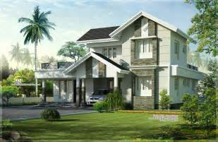 Home Design Gallery - 1975 sq home exterior design kerala home design and floor plans