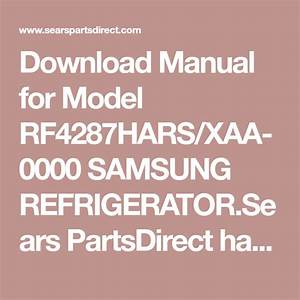 Download Manual For Model Rf4287hars  Xaa