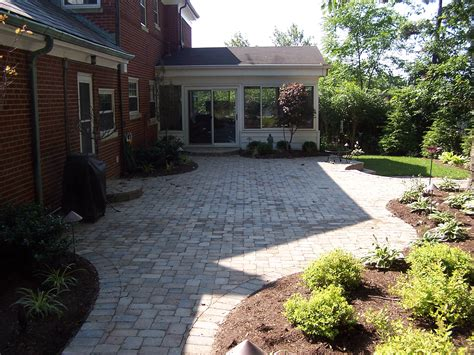 Lawn Patio by Plantings Flower Beds Tinkerturf