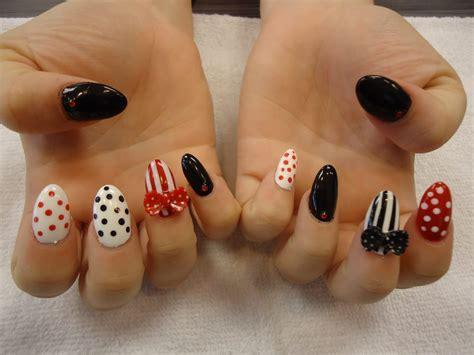 gel nails   bow  hand painted nail art yelp