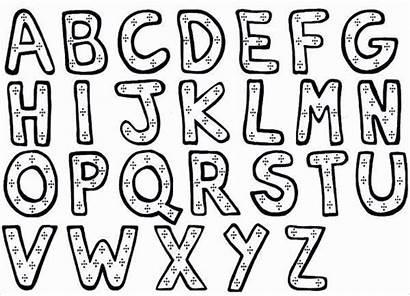 Alphabet Coloring Letter Block Pages Template Templates