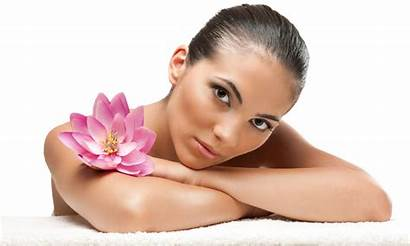 Spa Massage Woman Getting Facial Treatment Salon