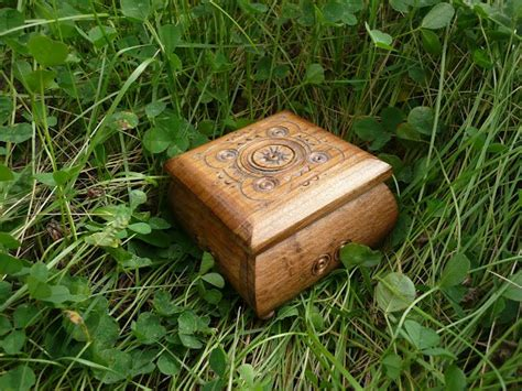 wooden jewelry box crafted  carpathian mountains