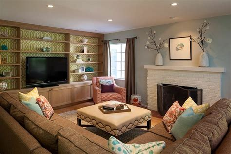 Living Room With Tv As Focus by Family Room Scanlon Interior Design Tv Rooms