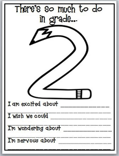 third grade thinkers first day of school quick write activity