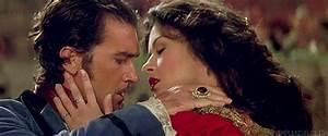 Antonio Banderas And Catherine Zeta Jones In The Mask Of