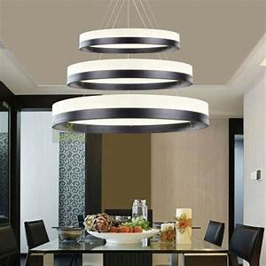 Rings pendant light circles chandelier dining room