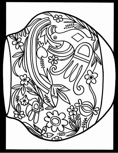 Coloring Pages Native American Pottery Folk Mexican