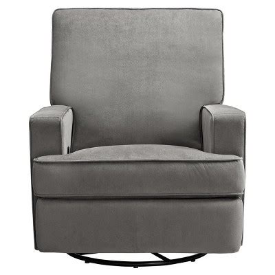 Infant Recliners by Baby Relax Swivel Gliding Recliner Gray Target