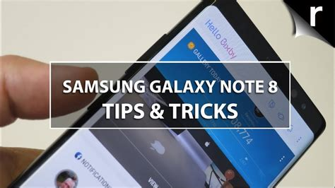 samsung galaxy note 8 tips tricks and best features
