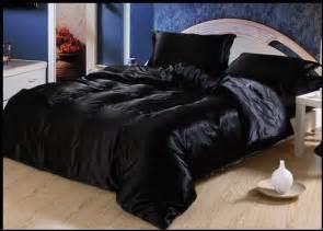aliexpress com buy luxury black silk satin comforter bedding sets king size queen full twin