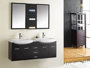 meuble salle de bain double vasques coupe 140cm bnb1460 With double vasque meuble salle de bain pas cher