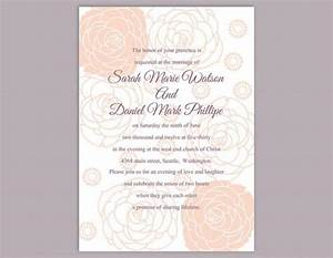 diy wedding invitation template editable word file instant With diy wedding invitations free downloads