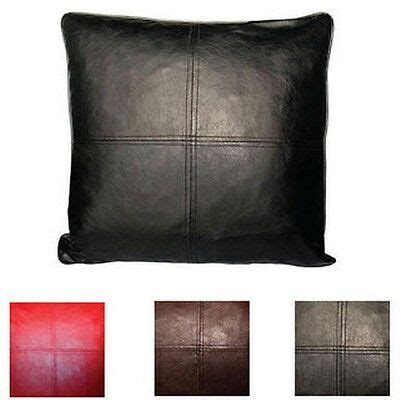 Throw Pillows On Leather by Faux Leather Decorative Feather And Fill Throw