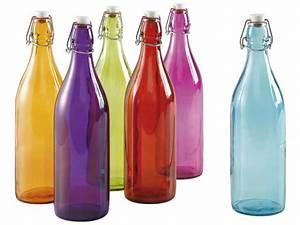 Bouteille De Verre : bouteille limonade bouteille coloris assortis vente de verre et carafe conforama ~ Teatrodelosmanantiales.com Idées de Décoration