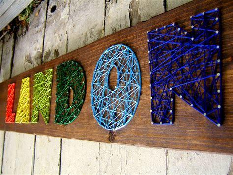letter modern string art wooden  tablet