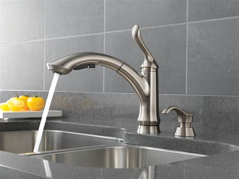 kitchen faucet types complete your kitchen with the delta kitchen faucets designwalls