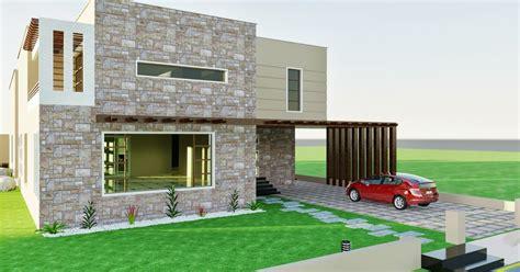Home Design Karachi :  Dha Karachi Vii 3d Front Elevation