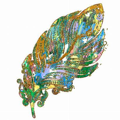 Glitter Clipart Mermaid Gold Feathers Transparent Clip