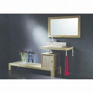 Meuble En Pierre : meubles en teck et vasques en pierre pour salle de bains h misph re sud collin arredo ~ Teatrodelosmanantiales.com Idées de Décoration