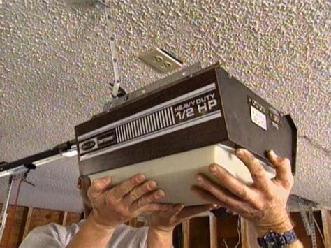 installing  garage door  tos diy