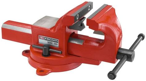Bench Vice Images 1222 125 swivel base bench vice 125mm facom
