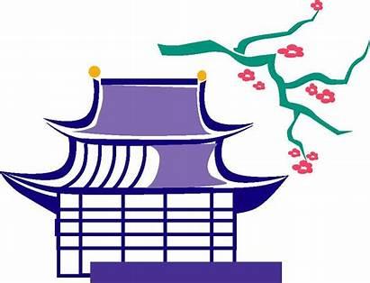Japanese Clipart Clip Japan Cliparts Houses Temple