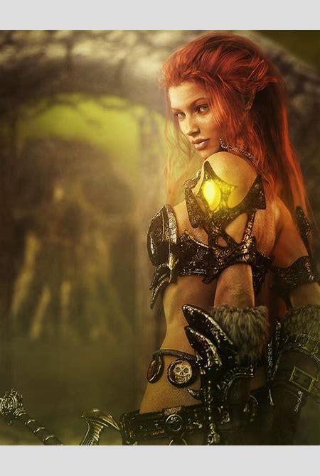 Redhead Warrior Girl Fantasy 3D-Art by shibashake on ...