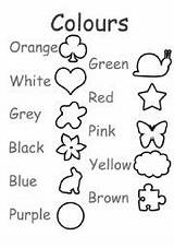 Colors Worksheet Worksheets English Coloring Exercises Colours Exercise Esl Fun Vocabulary Colouring Memory Teaching Printable Activity Worksheeto Shapes แบบฝ กห sketch template