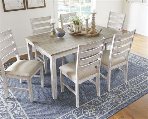 skempton whitelight brown dining room table set cn