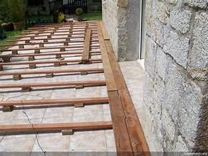 construction d39une terrasse en ipe en bretagne With terrasse en bois sur carrelage existant