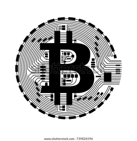Eps, ai and other bitcoin logo, wallet bitcoin, bitcoins file format are available to choose from. Bitcoin Vector Icon Stock Vector (Royalty Free) 739826596