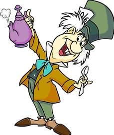 Mad Hatter Alice in Wonderland Cartoon Characters