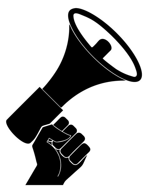 Megaphone Cliparts List Of Synonyms And Antonyms Of The Word Megaphone Vector