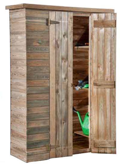 armadio gratis armadio ripostiglio 126x51 in legno impregnato